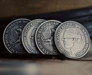 Antique Silver Finish Coins 1902 (3 см)